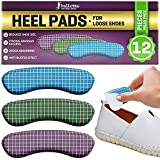 12 Extra Thick and Soft Heel Pads for Women and Men, Heel Grips, Heel Protectors from Slipping Out and Rubbing, Blisters, Fit Most Shoes (Multicolor)