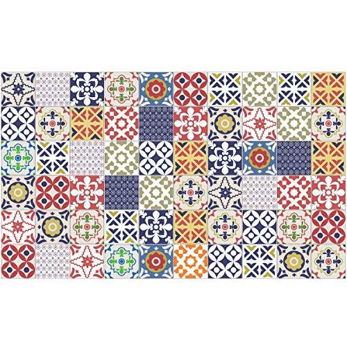 Ambiance-Live Lote de 60 Azulejos Adhesivos Que simulan baldosas hidráulicas, 15x15cm,