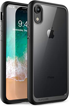 SUPCASE [Unicorn Beetle Style Series] Case for iPhone XR, Premium Hybrid Protective Clear Case for Apple iPhone XR 6.1 inch 2018 Release (Black)