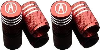 EVPRO Valve Stem Caps for Car Tire Decorative 4 Pack Red Fit Acura Accessories