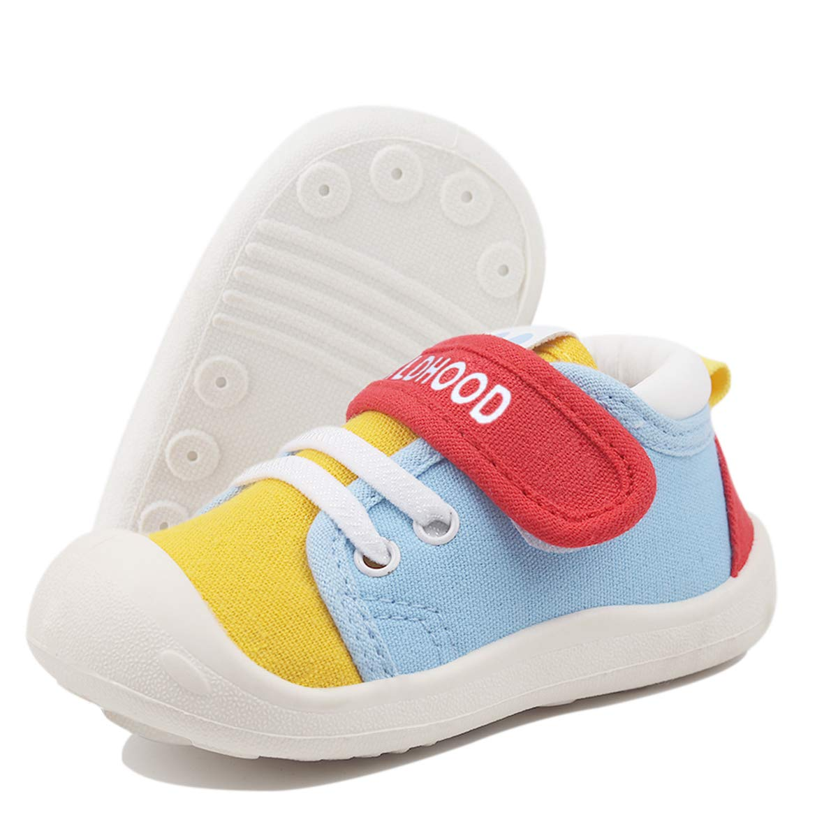 DEBAIJIA Baby First-Walking Shoes 1-4 Years Kid Shoes Toddler Infant Boys Girls Soft Canvas Breathable Sneakers