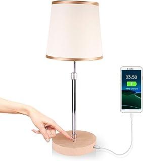 Lampe de Bureau LED, Lampe de Table Dimmable avec 1 Port Chargeur USB,Idéale pour Lire, Étudier, Bureau