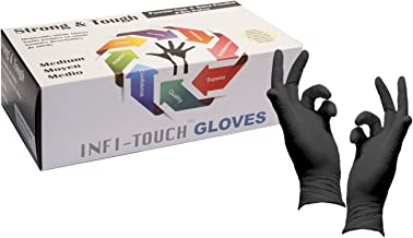 Heavy Duty Nitrile Gloves, Infi-Touch Strong & Tough, High Chemical Resistant, Disposable Gloves, Powder-Free, Non Sterile...