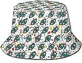 KEROTA Sombrero de pescador con estampado de ojos para exteriores, protección solar para pescadores, para viajes y pesca, unisex