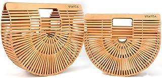 Bamboo Handbag Straw Purse Clutch Bags Handmade Tote Beach Handbags for Women