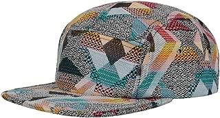 Hatphile Pattern Multi Color Stripe 5 Panel Hat