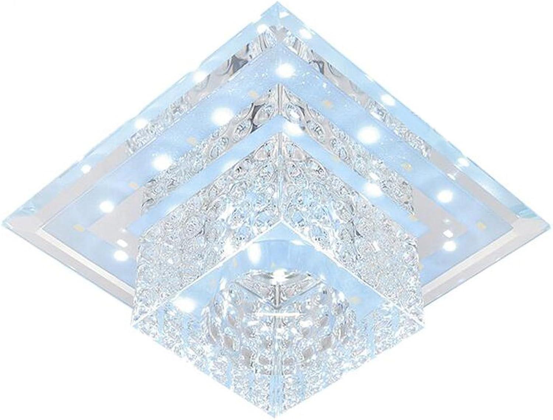 NabothT Kristall-Deckenleuchte, LED, quadratisch, 5500k-6500 K, Wei