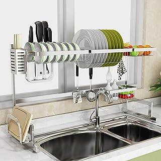 Égouttoir Vaisselle Pour Evier,Inox Support À Égouttoir Évier Plat Vaisselle Shelf Etagère Cuisine Rangement Rack Organisa...