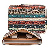 Kayond Canvas Water-Resistant 13.3 Inch Laptop Sleeve case for 12.5 inch 13inch Notebook Computer 12.9 Pocket Tablet (13-13.3 inch, Red Bohemia)