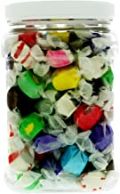 Salt Water Taffy 1.5LB - Bulk Original 10-Flavor Sweets Mix Candy in 64 FL OZ Gift Ready Reusable Square Jar