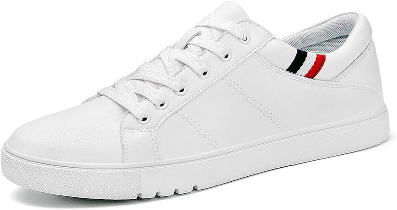 Våran nya män Lösa skor Resistenta skor Trösta sommar vit Round Toe Lace upp Flat Snekars