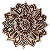 Knitwit Decorative Blocks Floral Indian Wood Stamps Handmade Stamps for Clay