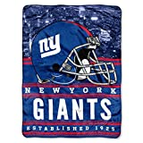 Officially Licensed NFL New York Giants 'Stacked' Silk Touch Throw Blanket, 60' x 80', Multi Color