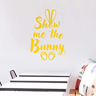 Easter Day Vinyl Wall Art Decal - Show Me The Bunny - 22.5