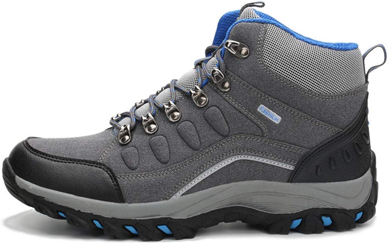 LHY HIKING Trekking- und Wanderschuhe für Herren, Turnschuhe mit Plüsch, Outdoor-Wanderschuhe aus Vollgummi, Schnürschuhe für rutschfeste Trekkingschuhe,Withoutplush,46