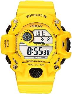 Hombre Digital Cuarzo Reloj con Plástico Correa Impermeable con Caja de Reloj