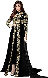 VIYONA FAB Women Georgette Long Anarkali Salwar Suit/Gown With Dupatta