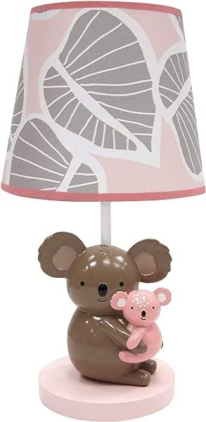 Lambs Ivy Calypso Lamp Pink Gray Koala Nursery Lamp With Shade Bulb