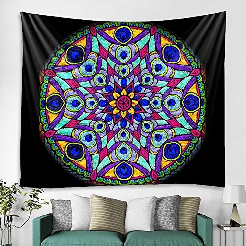 JXWR Tarot Card Tapiz Artista decoración del hogar Tapiz Hippie Bohemio cojín sofá Manta Estera de Yoga colchón 150x130 cm