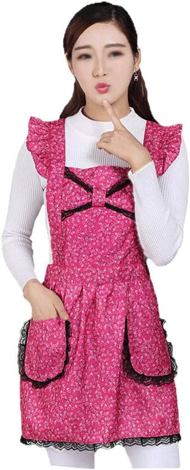 HUIFEI Fashion Home Sleeveless Strap Apron Kitchen Oil and Antifouling Pink Lace Princess Apron HUIFEI (color   Pink)