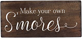 Elegant Signs Outdoor Party Decorations Smores Bar Sign Supplies for Wedding - By