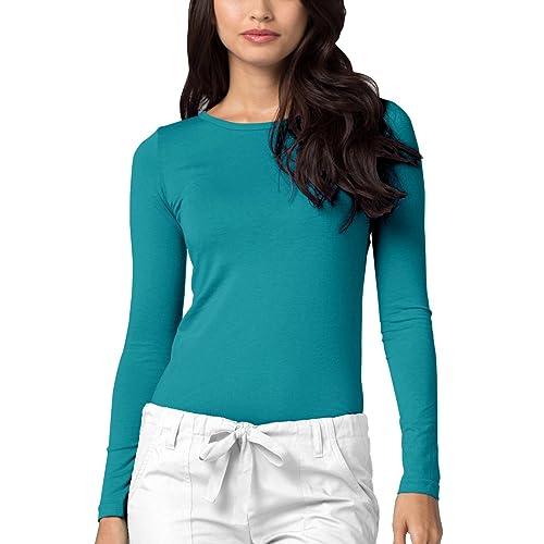 86459a37 Adar Womens Comfort Long Sleeve T-Shirt Underscrub Tee