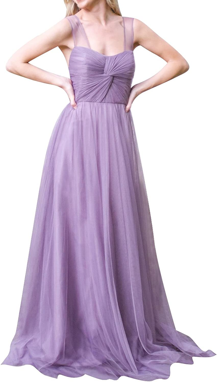Uther Bridesmaid Dress for Wedding Party Tulle Sweetheart Evening Gowns