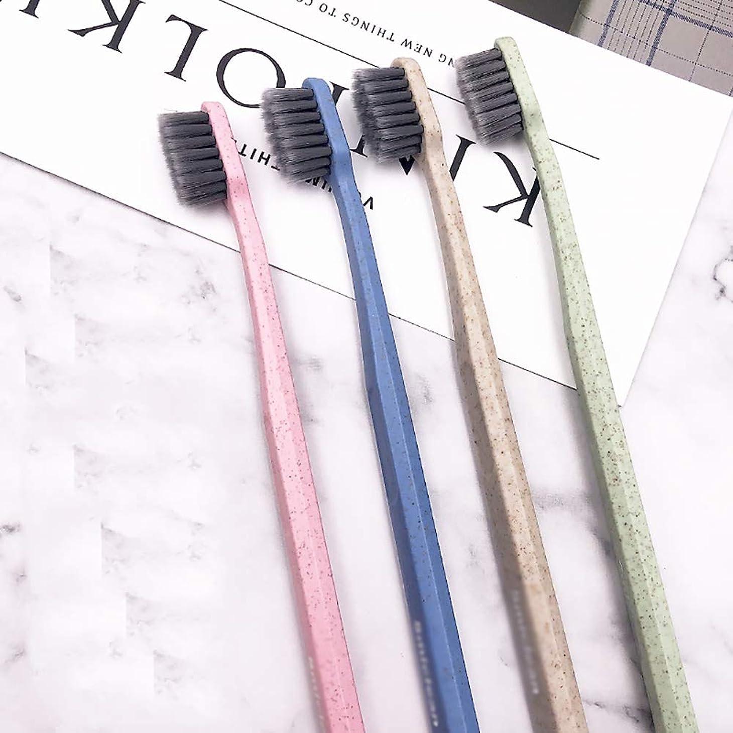 爆弾関係するエレメンタル歯ブラシ 8本のスティック大人歯ブラシ、竹炭歯ブラシ、ブラックブラシヘッド歯ブラシ - 使用可能なスタイルの3種類 HL (色 : A, サイズ : 8 packs)