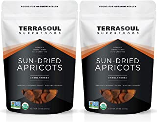 Terrasoul Superfoods Organic Apricots, 4 Lbs (2 Pack) - Sun-dried | Unsulphured | Fiber