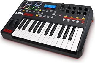 AKAI Professional MPK225 -Teclado controlador MIDI USB compacto de 25 teclas semi-contrapesadas, controles MPC asignables, 8 Pads, Q-links, botones, conectividad plug-and-play y Paquete de Software