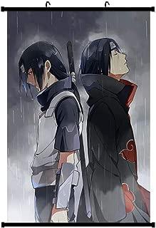 Onecos Naruto Itachi Sasuke Logo Poster Fabric Scroll Painting Wall Picture