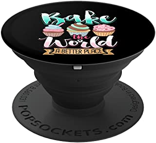 Bakers Gift Love Baking Cupcake Design Cute Bakeshop Owner - PopSockets Grip and Stand for Phones and Tablets