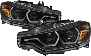Carpart4u-Projector Headlights For 2012-2014 BMW F30 3 Series 4DR - LED DRL - Black Housing With Clear Lens