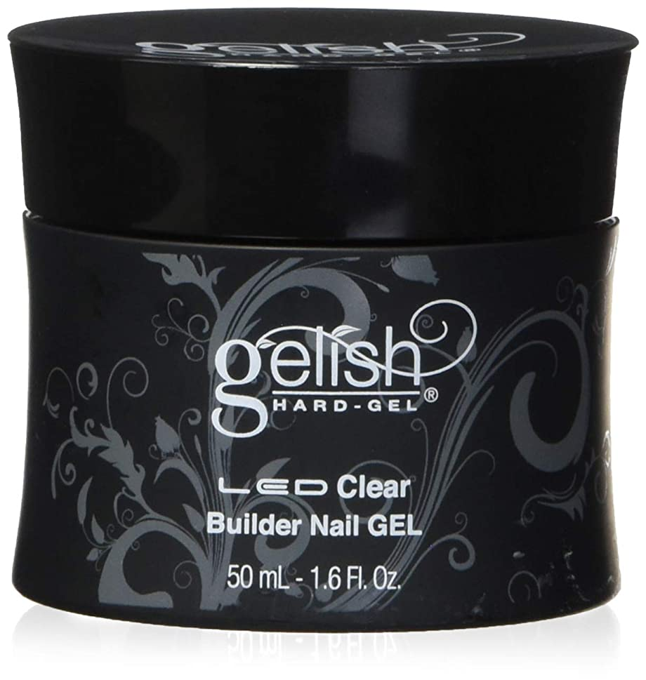 奴隷処理する三角形Harmony Gelish LED Hard Gel - Clear Builder - 1.6oz / 50ml