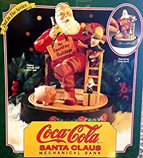 COCA-COLA SANTA CLAUS CAST IRON MECHANICAL BANK #2 IN SERIES