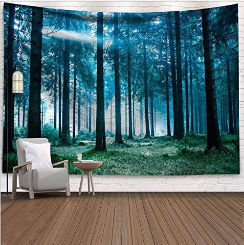 WERT Tapiz de Pared Tapiz Colgante de Bosque decoración Toalla para Colgar en el hogar Alfombra de Sol y Luna Cubierta de Cama Estera de Yoga A7 95x73cm