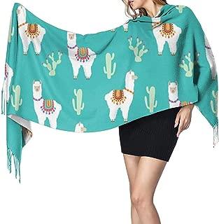 Bufanda para mujeres Hombres Llama peruana Cactus de alpaca mexicana Bufandas ligeras de invierno de gran tamaño Bufandas de chal con flecos suaves