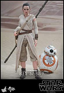 Hot Toys HT Star Wars 7 The Force Awakens Rey and BB-8 Set Movie Masterpiece Series 1/6th Scale Collectible Figure Action Figurine MMS337 The Last Jedi Saber