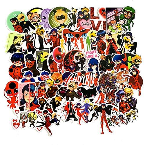 YCYY 50 Nuevas Pegatinas Bonitas de Dibujos Animados de Chica de Anime, Caja de Viaje, monopatín de Guitarra, Pegatinas Impermeables para Coche