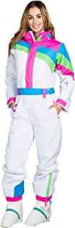 Women's Dayglow Neon Rainbow Ski Suit - Stylish High-Performance Ski Suit