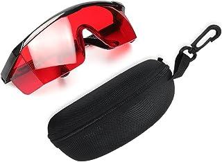 Red Laser Enhancement Glasses - Huepar GL01R Adjustable Eye Protection Safety Glasses for Red Alignment, Cross & Multi Lin...