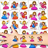 German Trendseller® 12 x Prinzessin Kinder Tattoos - Set Tattoo - Party ┃ Kindergeburtstag ┃...