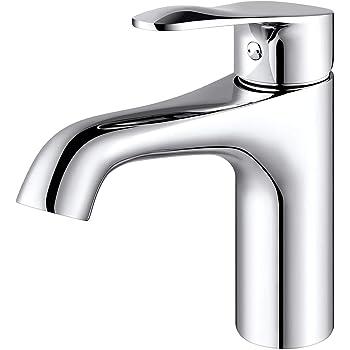 Mezclador de grifo de lavabo est/ándar corto Basics cromo pulido