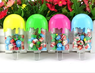 cooayz dyz School Classroom Rewards 1 Set Christmas Ice Cream Rubber Creative Erases(Random Color)