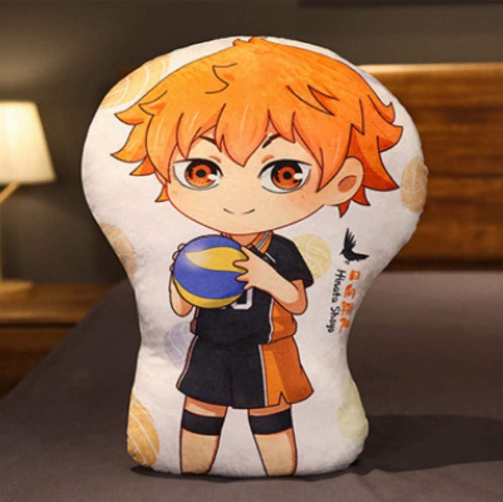 NOA Throw Pillows Figure Stuffed Plush Toys Anime Cushion Soft Household Supplies Cute Living Room Car Couch Office Decor Squish Cuddle Doll Hinata Shoyo /& Kageyama Tobio A