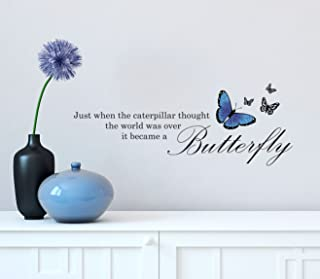 """Alice in Wonderland Butterfly Quote - Wall Quote Vinyl Decal for Wall 