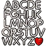 Iron On Patches, A-Z Patch Letters (3.7 x 3 in, 27 Pieces)