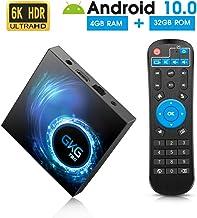 Android TV Box 10.0, GKG T95 TV Box 4GB RAM 32GB ROM Allwinner H616 Quad-core 64-bit Soporte 6K 3D WiFi 2.4GHz Android Box [2020 Versión]