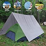 GEERTOP 1-3 Person Ultralight Waterproof Tent Tarp Footprint Ground Sheet Mat - For Camping Hiking Picnic 13