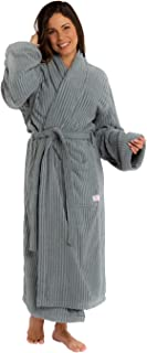 Trends Alley – Ribbed Velour Terry Bathrobe / Terry Cloth Robe for Men / Women, Spa Robe / Sleepwear, 100% Combed Cotton